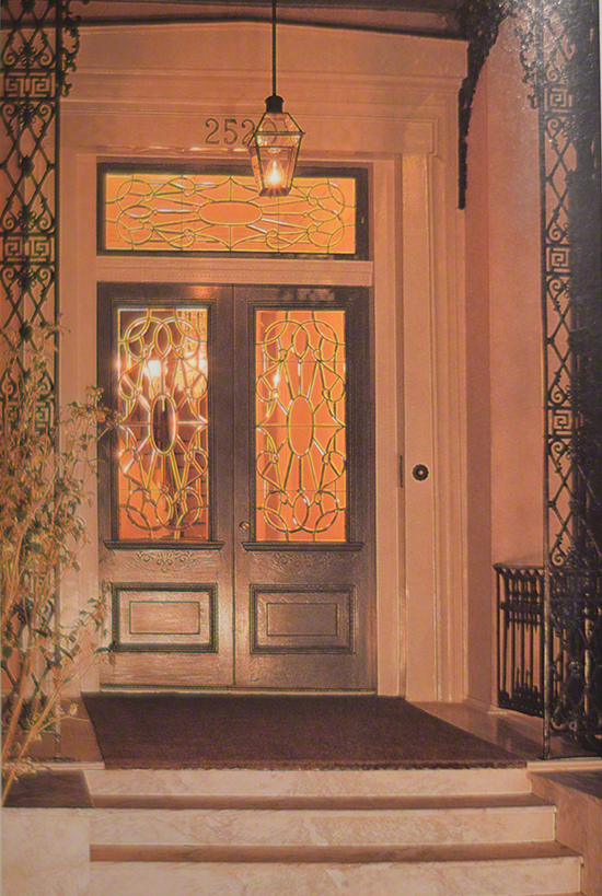 Leaded Glass front door, New Orleans architecture, New Orleans homes on www.CourtneyPrice.com