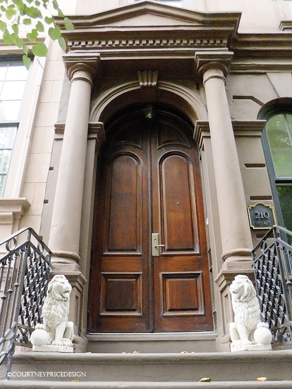 Follow Your bliss, Doors will open, New York City Brownstone, Front Door, Upper East Side, Manhattan Architecture, New York City Architecture,