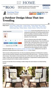 Huff Post Home Outdoor Trends