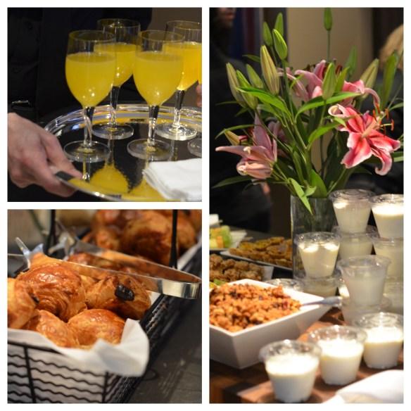 Breakfast, Kips Bay Show house, yogurt, mimosa, pastries