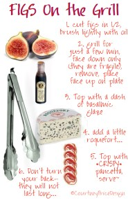 summer entertaining, appetizers on the grill, summer party food, seasonal produce, fig, pancetta, wine pairing appetizer