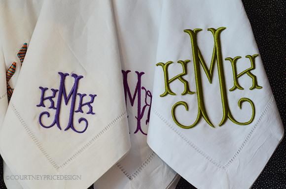 Linen hand towel, Monogrammed linen, monogrammed gifts, monogram