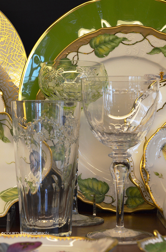china patterns, crystal patterns, formal and every day dishes, glasses and plates