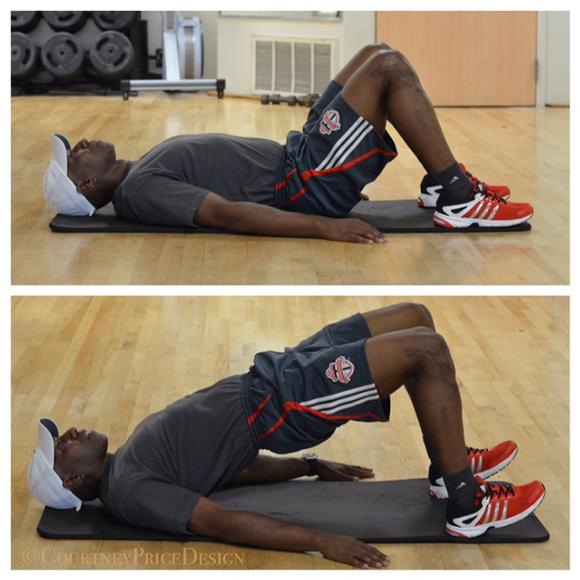 Exercises to strengthen Glutes, butt exercise, bridge exercise