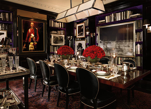Ralph Lauren, Apt No1, Dining Room, British Decor, as seen on CourtneyPrice.com