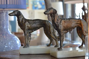 Mecox dogs, dog bookends