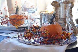 thanksgiving, table decoration, pumpkin