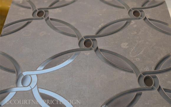 Ann Sacks glass and stone tile on www.CourtneyPrice.com