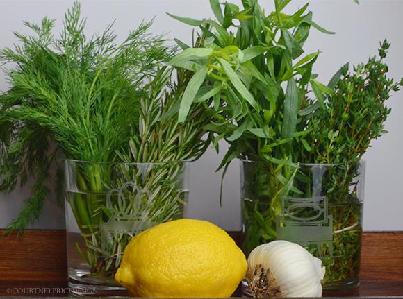 Fresh Herbs on www.CourtneyPrice.com