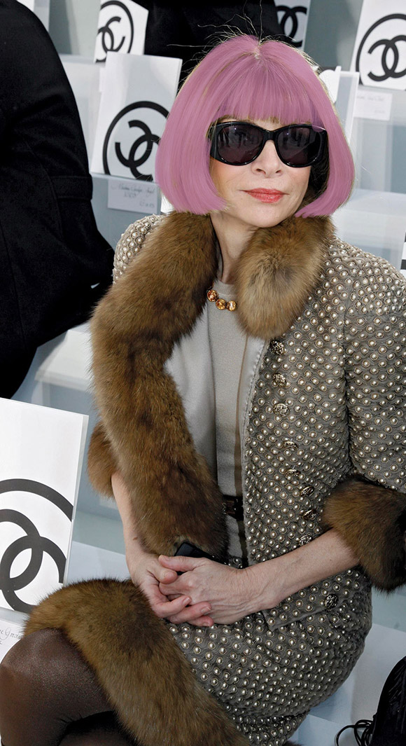 Radiant Orchid Anna-Wintour, pink hair on www.CourtneyPrice.com