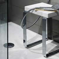 Wet Style Cube Bench for Bathroom Glam