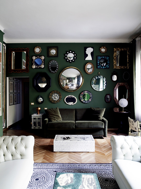 Fornasetti design, in Decorate Fearlessly, by Susanna Salk - reviewed on www.CourtneyPrice.com