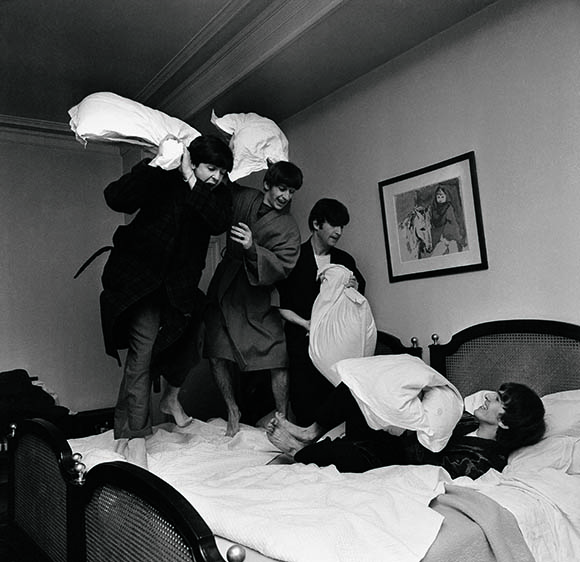 The Beatles Pillow fight on www.CourtneyPrice.com