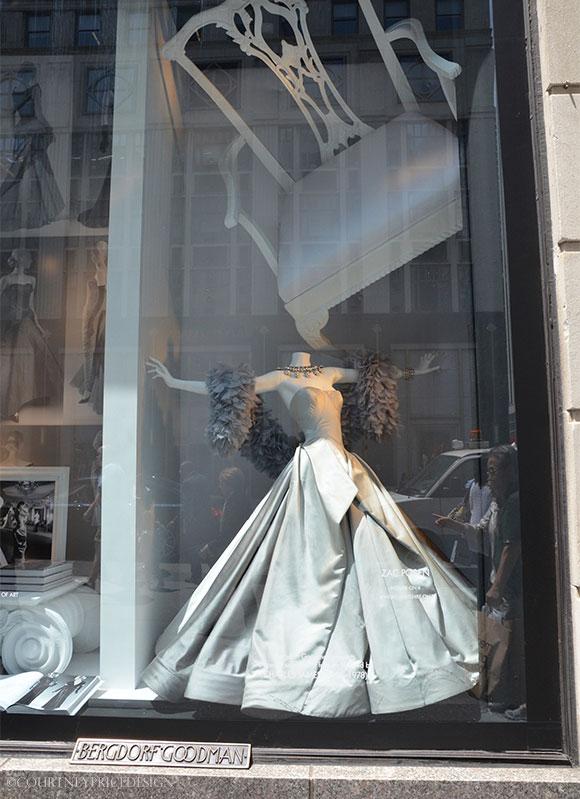 Bergdorf window celebrates Charles James exhibit at The Met on www.CourtneyPrice.com