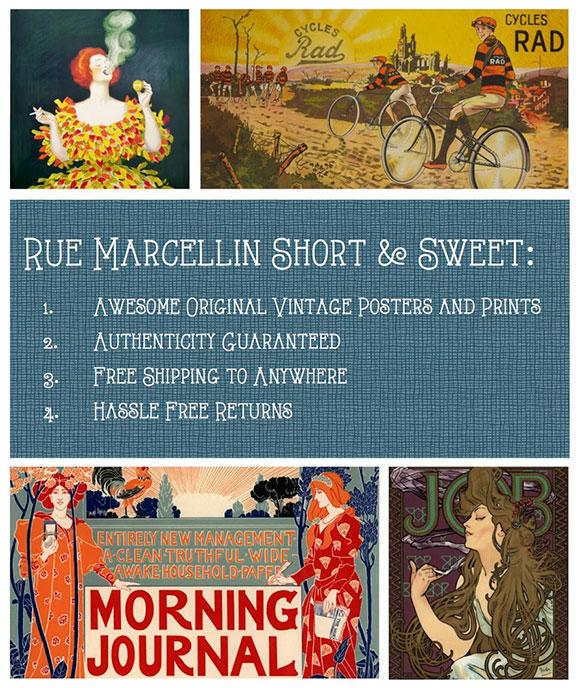 Rue Marcellin - Parisian Poster source