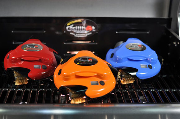 grillbot grill gadget to clean a hot or cooled off grill while you enjoy your food/guests on www.CourtneyPrice.com