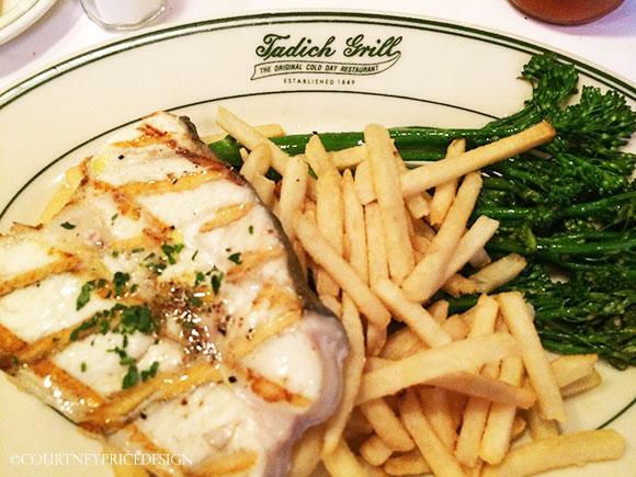 Halibut, Tadich Grill, oldest restaurant in San Francisco, on www.CourtneyPrice.com