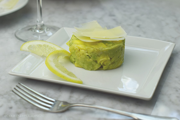Artichoke Avocado Salad on www.CourtneyPrice.com