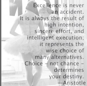 quote on excellence - on www.CourtneyPrice.com
