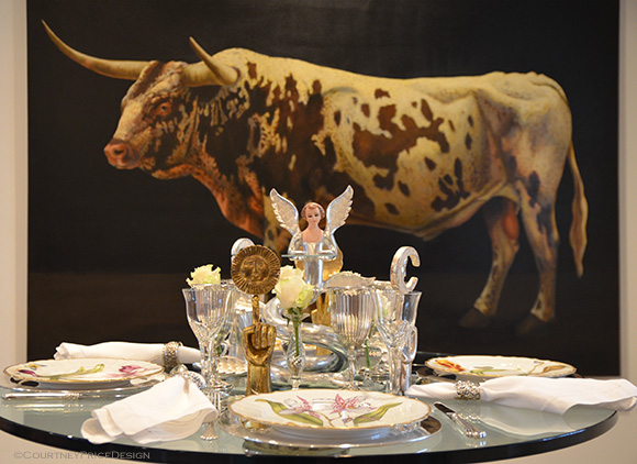 Texas Entertaining, Jolie Berndt, Art To Table Dinner, with a Pedro Friedeberg collection on www.CourtneyPrice.com
