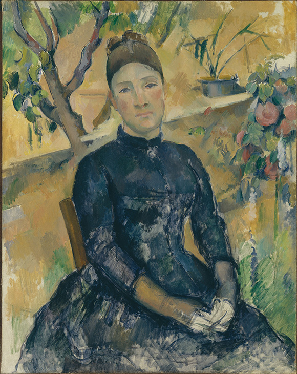 Cezanne_Madame-Cezanne-in-the-Conservatory at the Metropolitan Museum of Art on www.CourtneyPrice.com