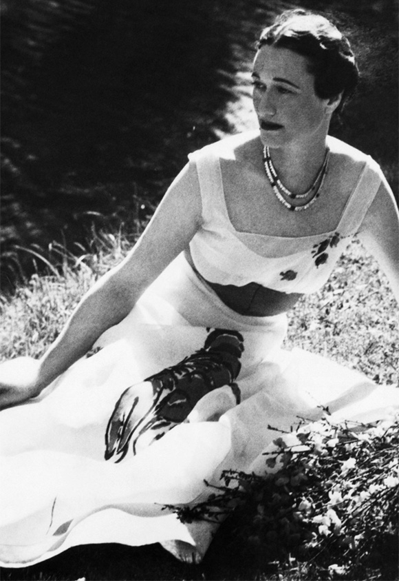Wallis Simpson, Lobster Dress - on www.CourtneyPrice.com