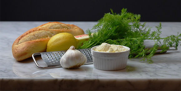 Garlic Bread Ingredients, Commanders Palace recipe on www.CourtneyPrice.com
