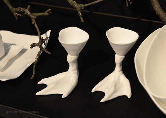 Bird Feet Egg Holders, Dining Trends on www.CourtneyPrice.com