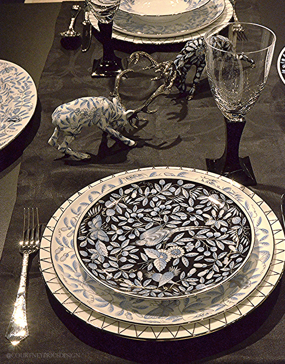 Herend Plates And Stags, Dining Trends on www.CourtneyPrice.com