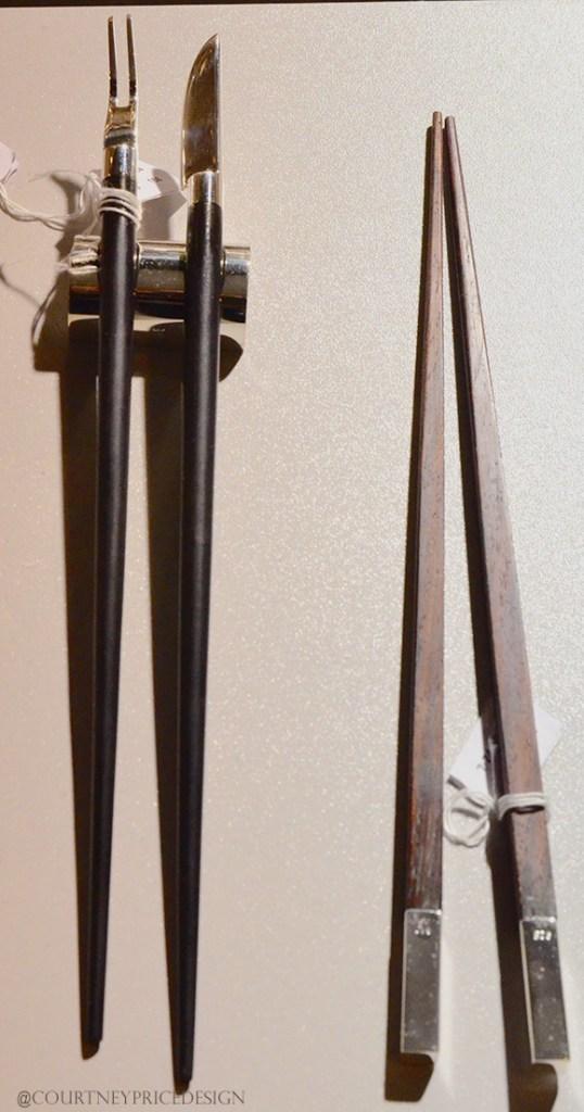 Silversmith Chopsticks,Dining Trends on www.CourtneyPrice.com
