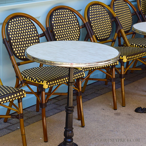 French Cafe Chairs, Dallas gets a French Accent:- Best Macarons-Shop Dallas: Bisous Bisous www.CourtneyPrice.com
