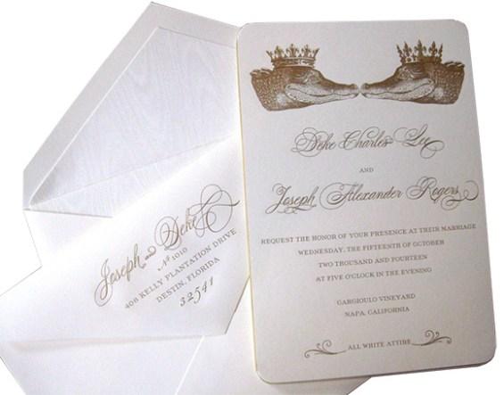 Custom invitations by Alexa Pulitzer on www.CourtneyPrice.com