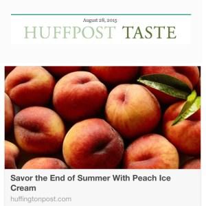 Peach Ice Cream, Huff Post Taste