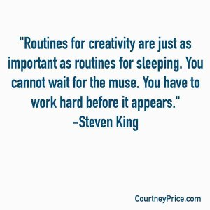Steven King Quote on Creativity, www.CournteyPrice.com
