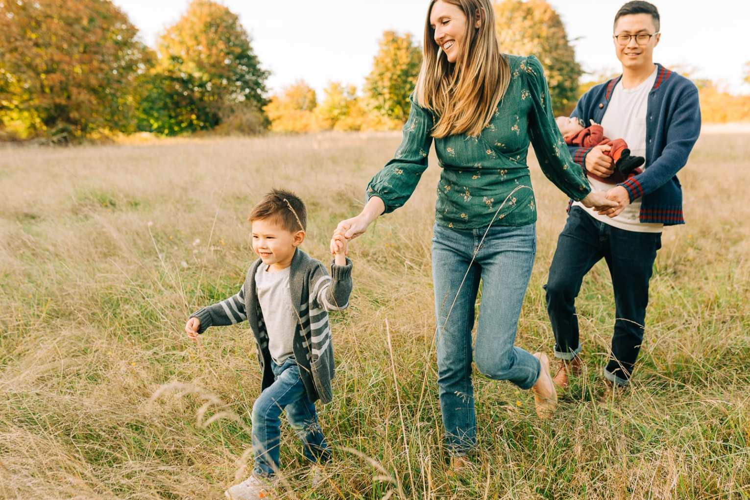Discovery Park is a beautiful place to take family photos. It has fields, trails, and beach. It is very family-friendly as well!