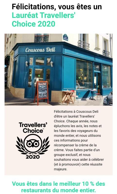 Couscous Deli Travellers's Choise