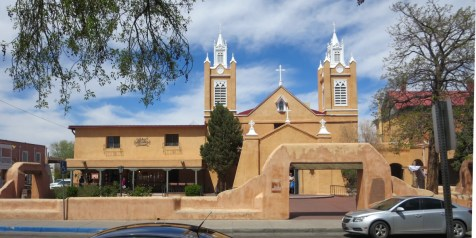 San Felipe Church in Albuquerque Old Town