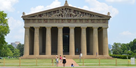 Front view of the Parthenon in Nashville - full size replica of the Greek building