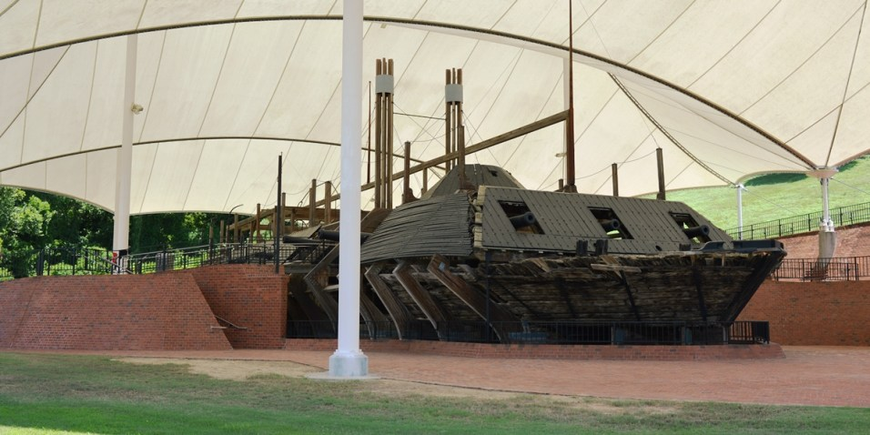 USS Cairo Museum - one of seven ironclad gunboats built for the Union army in the civil war