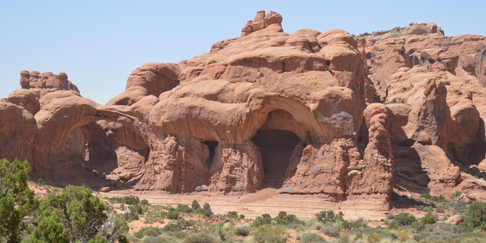 Arches National Park - Double Arch on the left
