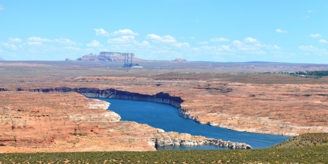 Lake Powell and the distant hills