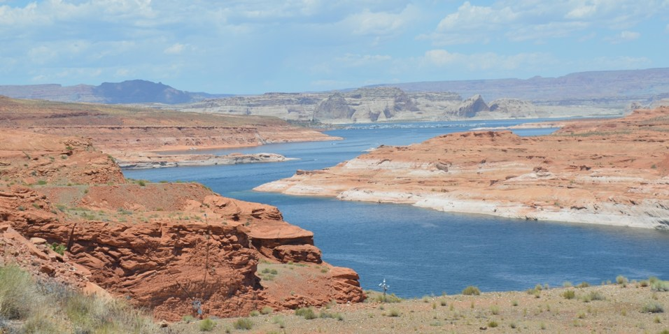 Lake Powell from Glen Canyon Dam