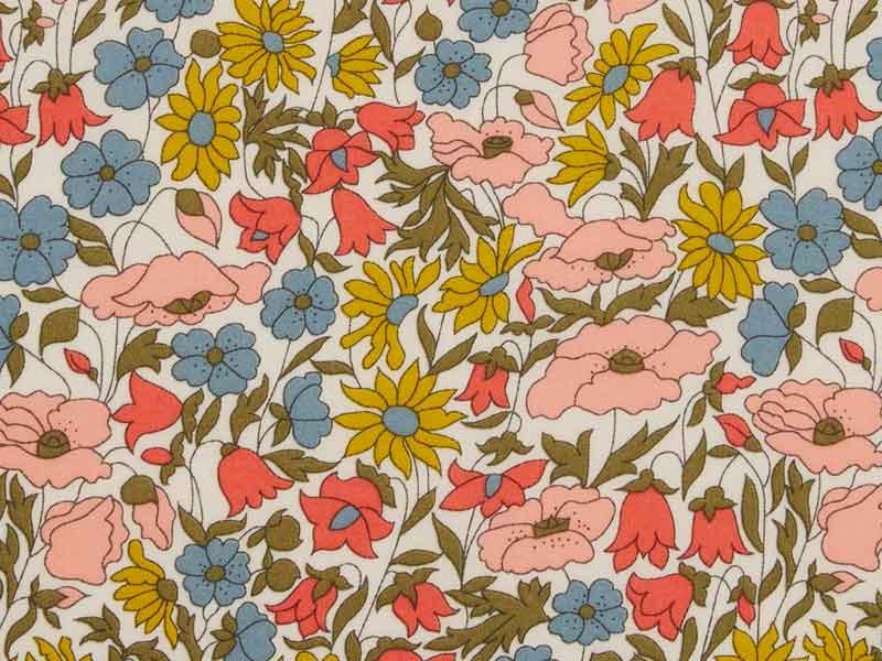 tissu liberty poppy and daisy venus x10cm