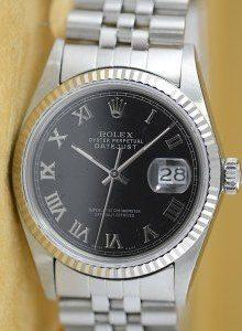 5e0bd25d4d04 Rolex Datejust mit römischen Ziffern