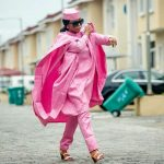 pink agbada for women