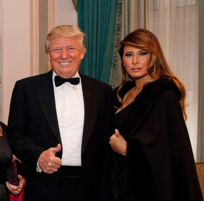 Donald Trump and Melania New Year's Eve