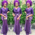 Aso ebi gallery purple image