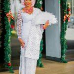 all white aso ebi style