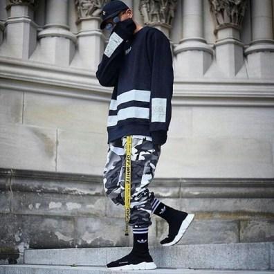 military juggers and sweatshirt with cap streetwear image