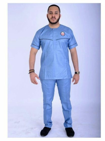 blue senator suit style